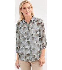 blouse mona ecru::beige::zwart