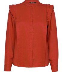 pralenza haylin shirt overhemd met lange mouwen rood bruuns bazaar