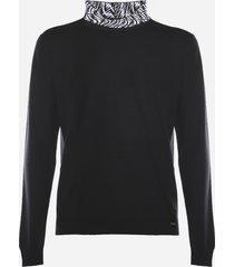 fendi wool blend sweater with ff vertigo motif