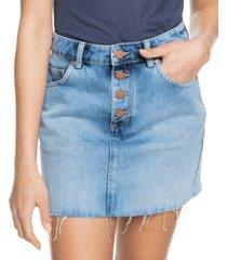 roxy juniors' surfing girl power cotton denim skirt
