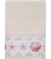 avanti coronado cotton graphic-print beaded hand towel bedding