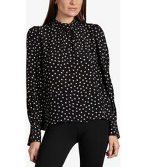 sanctuary bliss puff-sleeve blouse