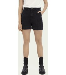 scotch & soda boyfriend denim short – black butter