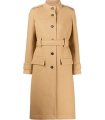 chloé belted single-breasted coat - neutrals