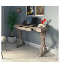 mesa escrivaninha 1 gaveta artany veneza ii home office grigio