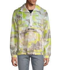 sport camo-print hooded jacket
