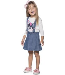 overall infantil para mujer azul marketing personal 64593