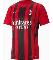 ac milan home replica heren trui, zwart/rood, maat xl | puma