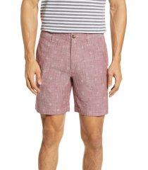 men's bonobos 7-inch shorts, size 34 - red