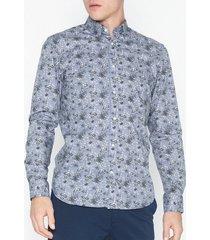 premium by jack & jones jprbruxelles print shirt l/s skjortor blå