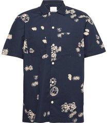 brandon graphic shirt ss overhemd casual blauw wood wood