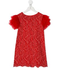 charabia tulle party dress - red
