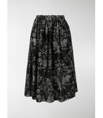 comme des garçons comme des garçons baroque-check print gathered skirt