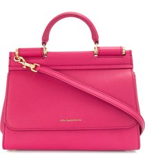 dolce & gabbana sicily soft tote bag - pink