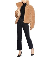 apparis faux-sherpa puffer teddy coat, created for macy's