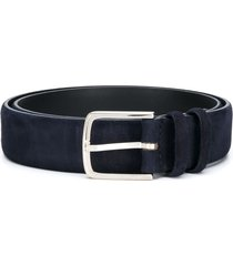 orciani pointed-tip suede belt - blue