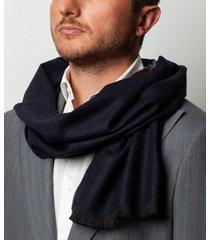 sciarpa da uomo, maalbi, lana navy, autunno inverno | lanieri