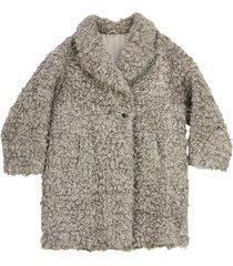 brunello cucinelli mohair and virgin wool coat