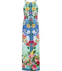 abito a fiori con scollo all''americana (blu) - bodyflirt boutique