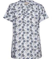 shirt s/s woven t-shirts & tops short-sleeved blå brandtex