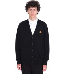 kenzo cardigan in black wool