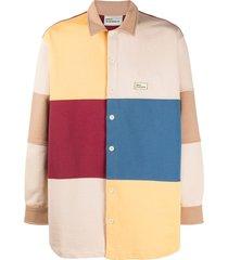 drôle de monsieur colour-block fleece shirt - neutrals