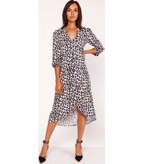 asymetryczna sukienka, suk161 panterka