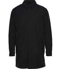 2 mb stretch car coat tunn rock svart tommy hilfiger tailored