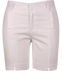 shorts pau a pique básico sarja branco