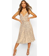 bridesmaid occasion sequin detail midi dress, nude