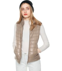 chaleco taupe active