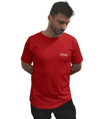 camiseta cellos box logo premium vermelho - vermelho - masculino - dafiti