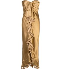 cinq a sept elise tassel-embellished dress - gold