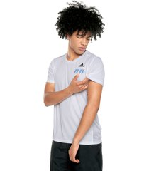 camiseta blanco adidas performance own the run t