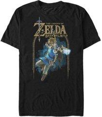 nintendo men's legend of zelda bow and arrow short sleeve t-shirt