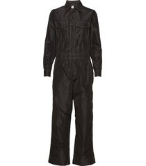 recycled polyester jumpsuit jumpsuit zwart ganni