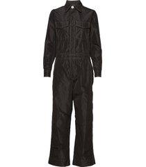 recycled polyester jumpsuit jumpsuit zwart ganni