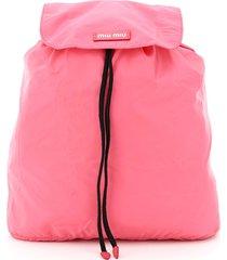 miu miu packable nylon backpack