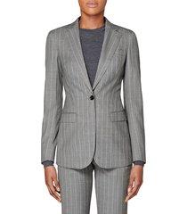 women's suistudio cameron wool suit jacket, size 10 us / 42 eu - grey