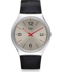 reloj skinmetal negro swatch