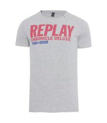 t-shirt masculina - cinza