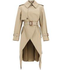 alexander mcqueen asymmetric trench coat