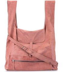 ann demeulemeester slouch shoulder bag - pink