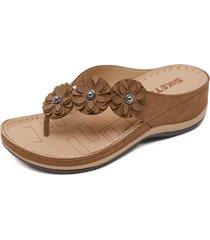 sandalias con cuña de playa para mujer