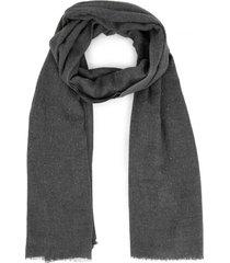 amaro feminino lenço longo mini studs, cinza