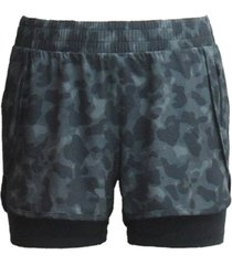 ideology camo layered running shorts, created for macy's