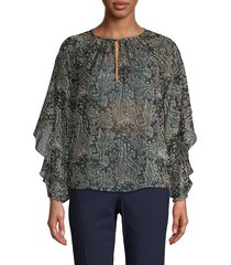joie women's kriston paisley top - caviar - size xxs