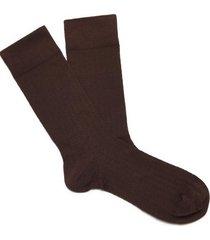 calcetin básicos marrón new man