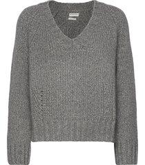 evannah stickad tröja grå by malene birger