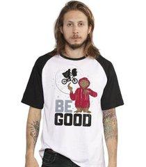 camiseta bandup! e.t. be good raglan oficial masculina